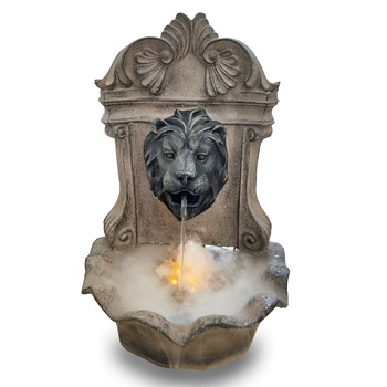 resin lion head wall decoration water fountain air humidifier