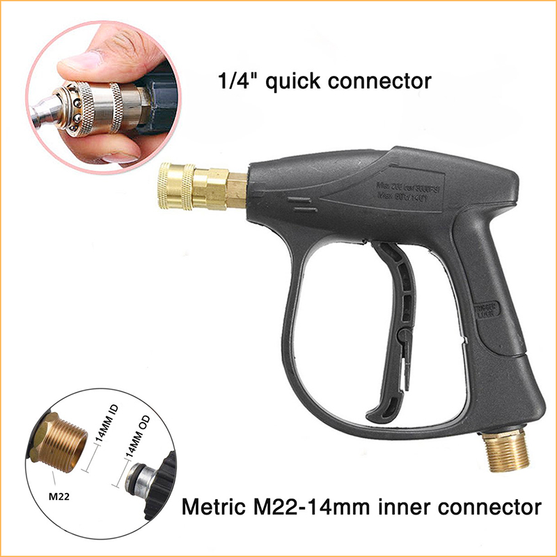 """High Pressure Car Washer Washing Set With 5 Color Nozzle Wash Kit Sprayer Gun Adjustable Foam Cannon With 1/4"""" Quick Connector"""