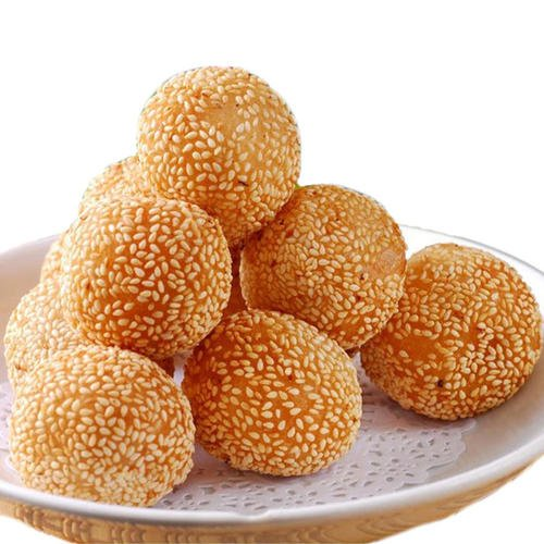 Wholesale Frozen Fried Sesame Balls traditional breakfast snacks Dimsum Glutinous <strong>Rice</strong> Sesame Seed Ball