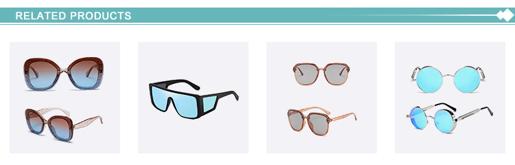 Free sample square frame metal fashion sunglasses colorful lens