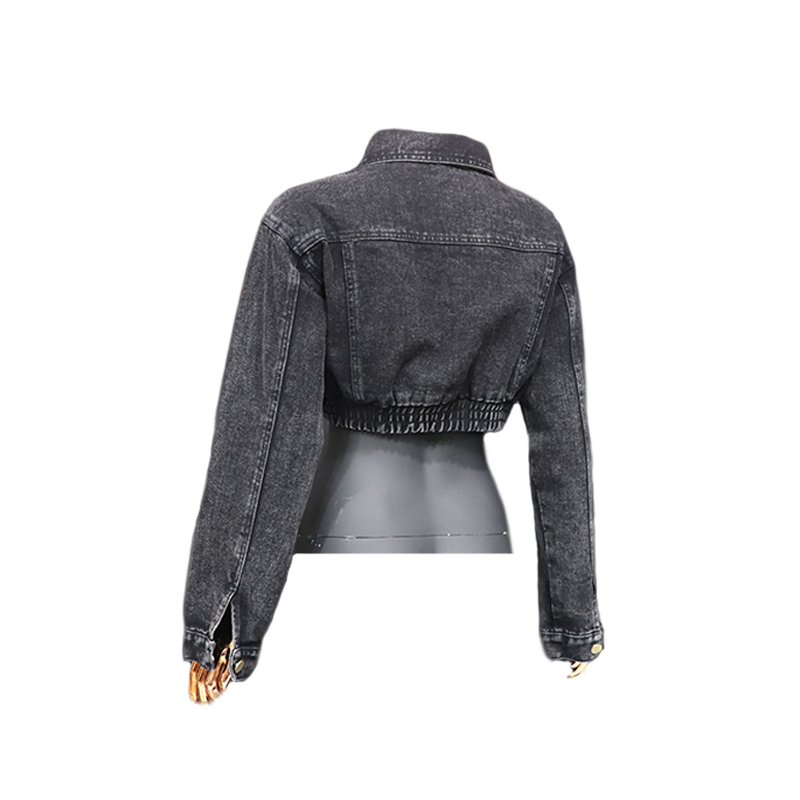 Hot Products Women's Denim Coat Manufacturer Ladies Slim Jackets Coats Female Short Vintage Plain Women Jean Jacket