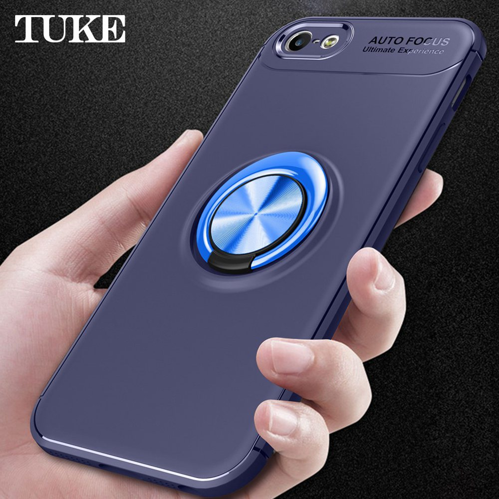 case for xiaomi mi 8 lite SE 8T MAX3 Pro POPC F1 Play Redmi S2 <strong>Y2</strong> 6A Note 6 Pro Case Luxury Car Magnet Ring Soft Holder Cover