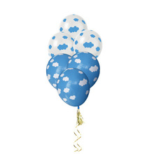 Hot Sale <strong>12</strong> Inch Blue Sky White Cloud Printed Globos Latex Round Balloons For Birthday Party Decoration Baby Shower Kids Toy