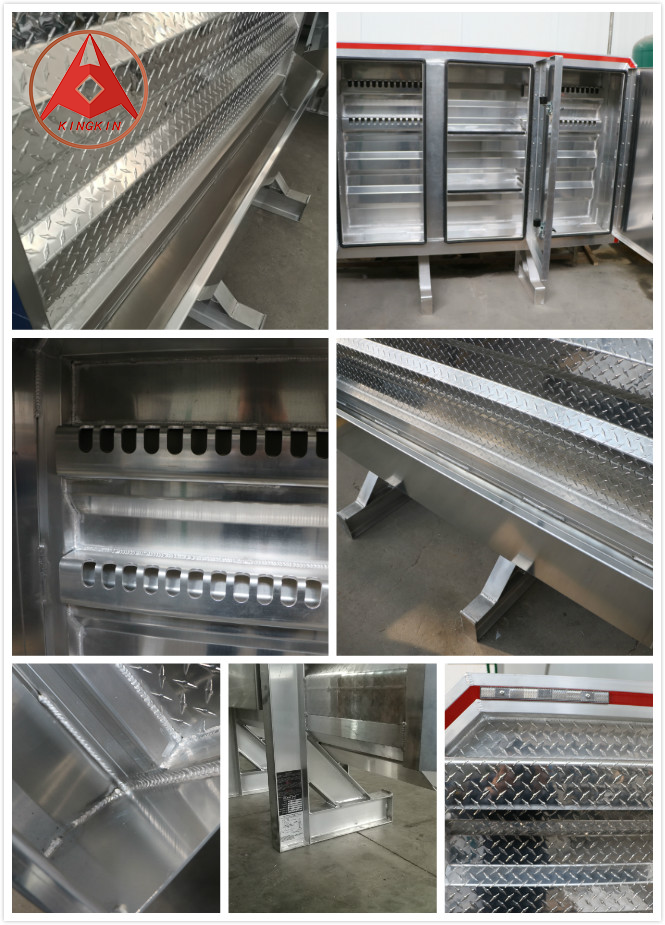 Aluminum cab guards for Semi Truck  with Chain Hangers And Tray