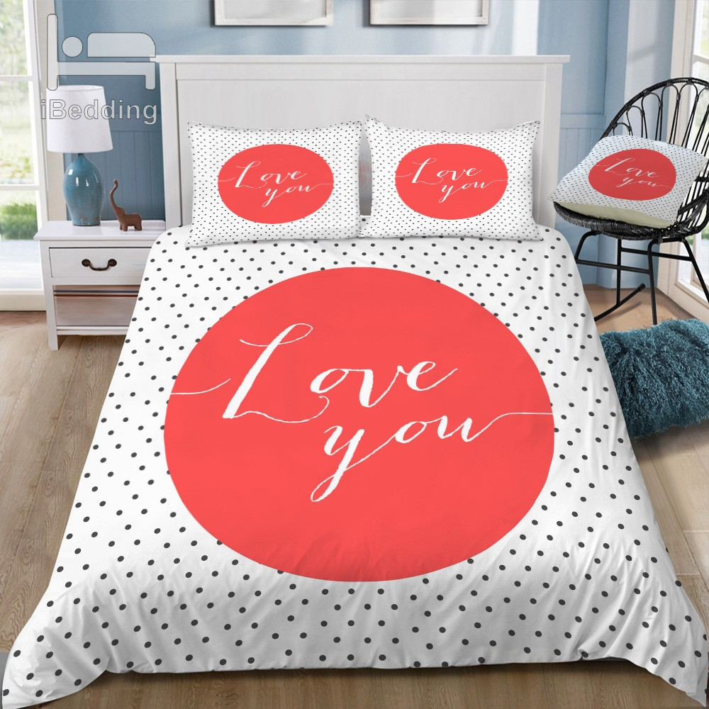 love you Bedding Set boho bedding