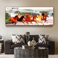 8 Horse Painting Wall Art Home Decor Picture Panels Poster For Living Room