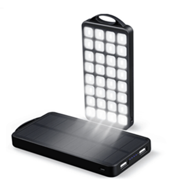 New Design 8000mAh Portable Solar Cellphone Charger with 350LM Powerful LED Light Solar Powerbank