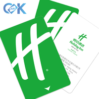 cheap plastic pvc blank chip card with shenzhen factory price
