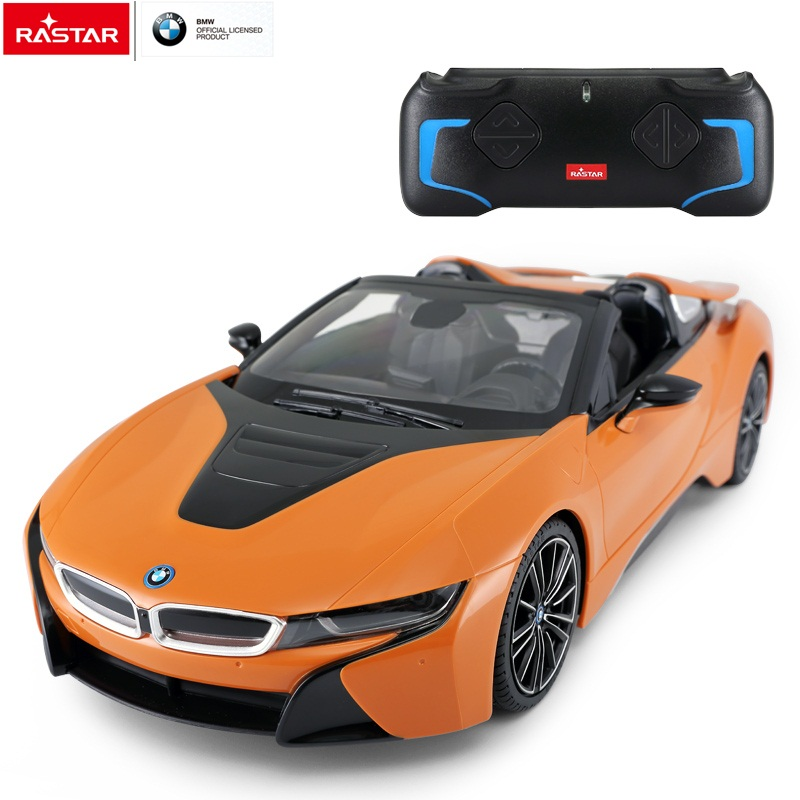 RASTAR remote control toy 1:12 BMW i8 roadster convertible big rc car