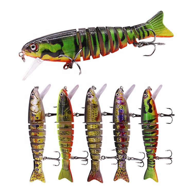New Artificial Plastic Multi Jointed <strong>Fishing</strong> Lure Swim Bait Lifelike Hard Bait <strong>Fishing</strong> Lure
