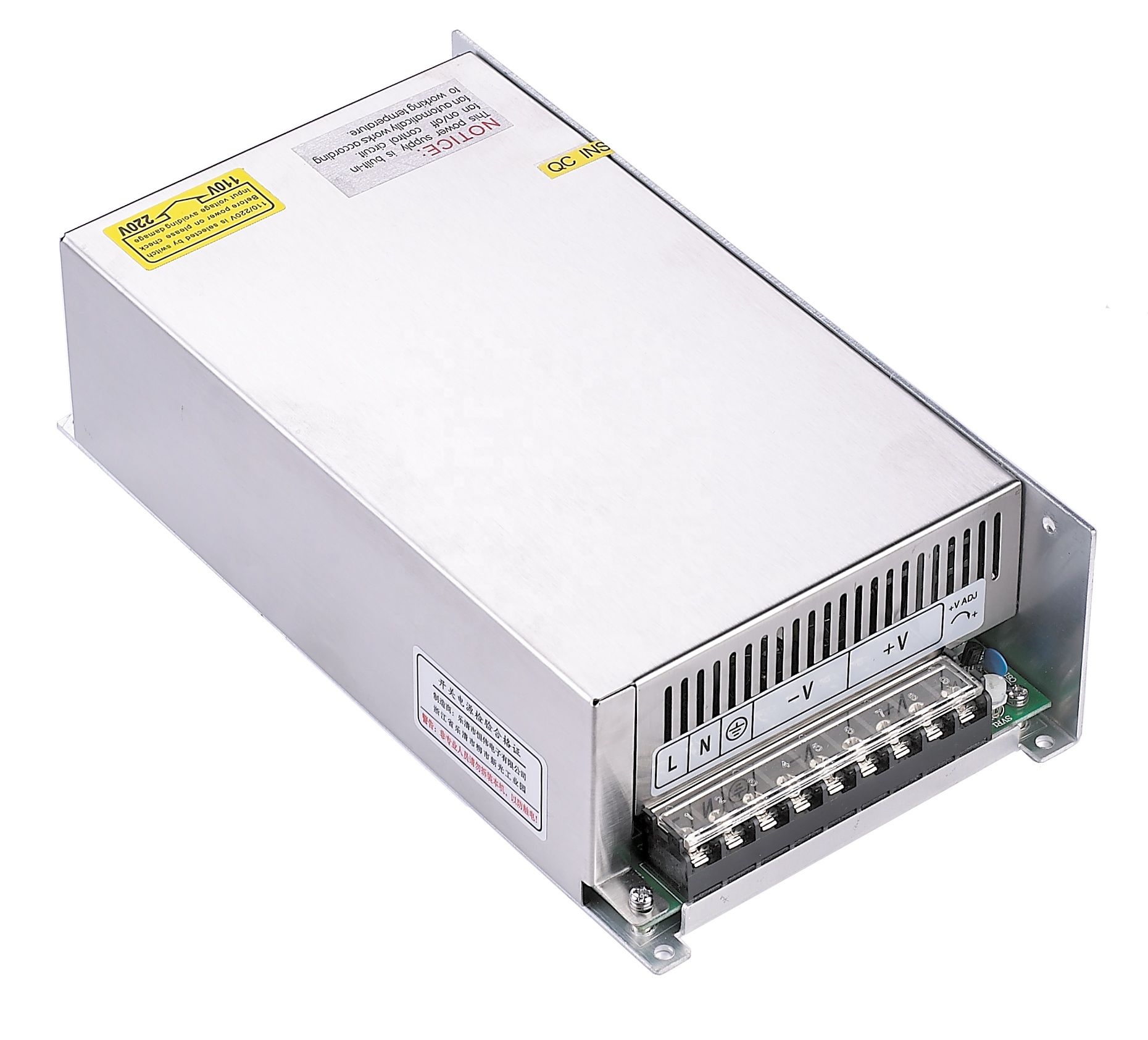 CE ROHS approved Enclosed CV type HS-600-12 600W 12V 50A 12V switching power supply for LED decorate lighting