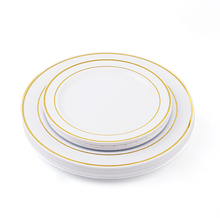 Hot sale silver cutlery party dinner dishes disposable plastic <strong>plates</strong> 30 10.25&quot; <strong>plate</strong> 30 7.5&quot; <strong>plate</strong>