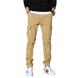 9701#Wholesale Cargo Pants Garment Dyed Cotton Men's Casual Pants zip off cargo khaki men cotton chino pants