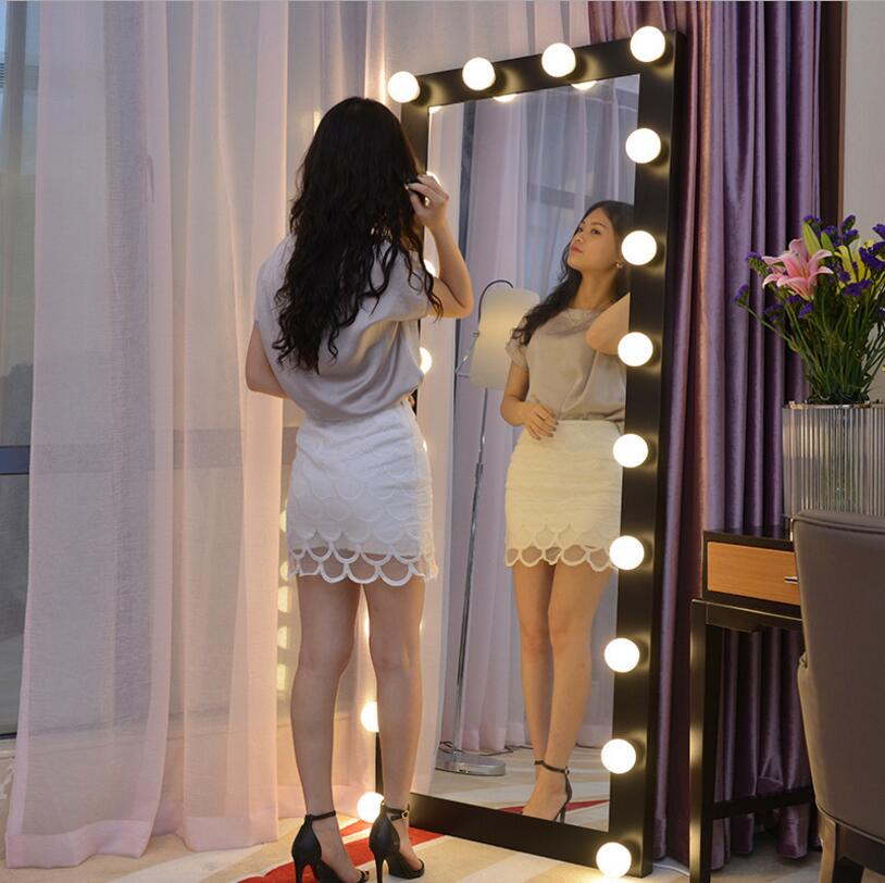 <strong>Lighted</strong> Vanity Mirror with 12 <strong>x</strong> 3W Dimmable LED Bulbs and Touch <strong>Control</strong> Design, Hollywood Style Makeup Cosmetic Mirrors with Led