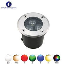 Waterproof indoor floor light RGB gallery spot 3w step lights outdoor
