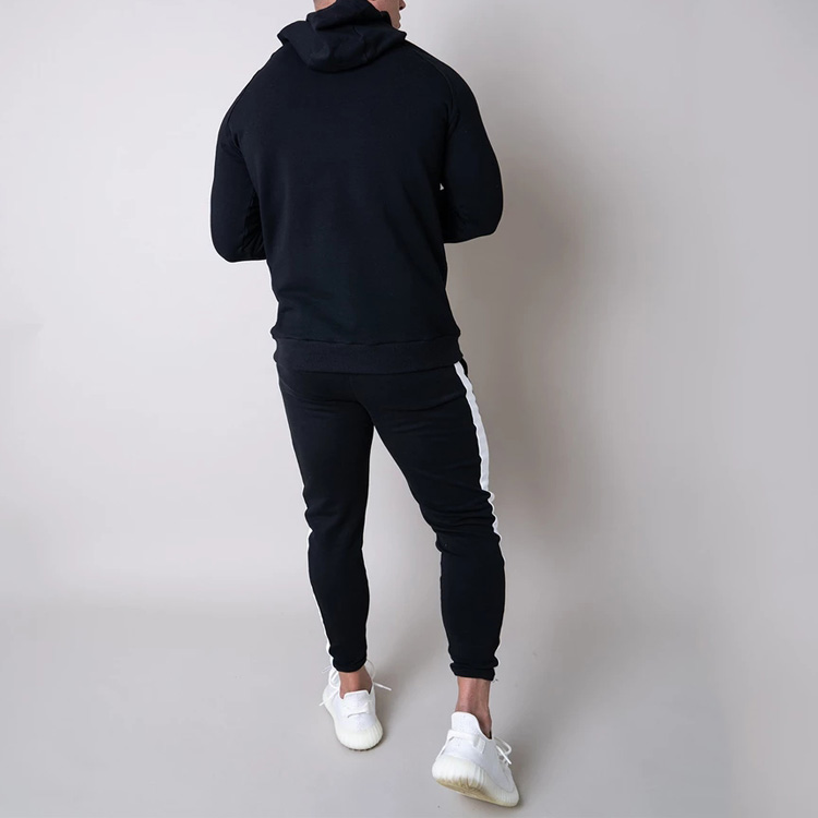 2019 Men Striped Tracksuit Hoodie And Joggers 2 Piece Set Custom Sweatsuit