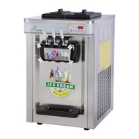 electric commercial soft Ice cream maker making machine 3 flavor