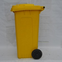 63Gallon plastic 2 wheels rubbish bin
