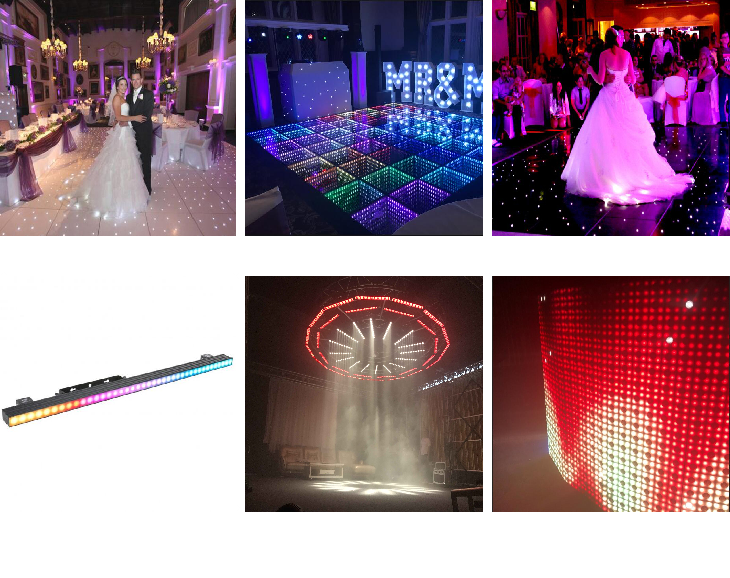 Black & white emitting color sd controller removable led dance floor