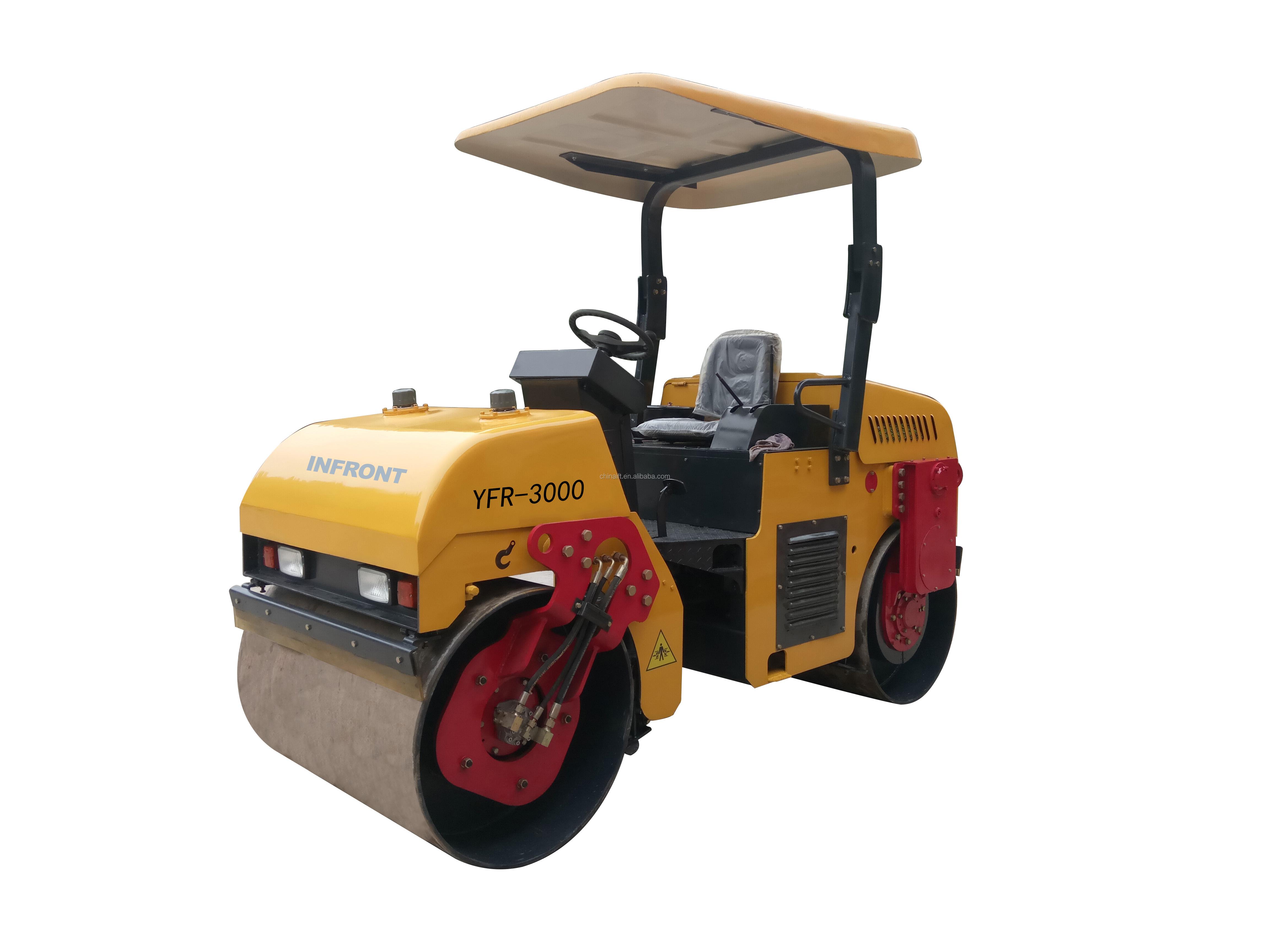 YFR-3000 3 ton double drum road roller compactor