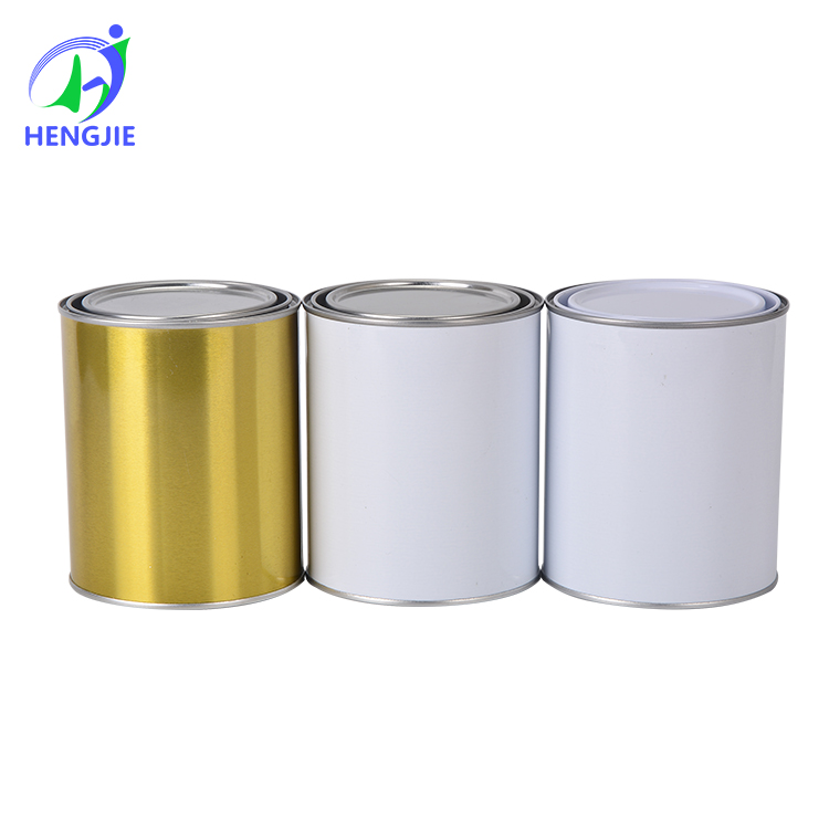 Buy 125ml empty metal custom printed tin cans with plastic lids