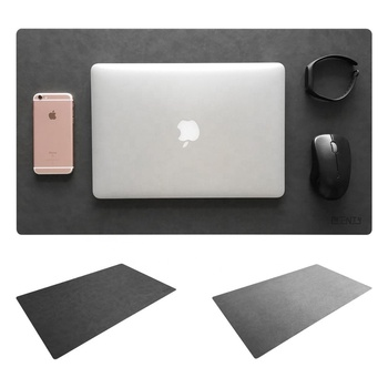 "Leather Desk Mat & Mate 24"" x 14"" Non-Slip Smooth Writing Desk Pad Protective Mat Protector Mouse Pad for Desktops and Laptops"