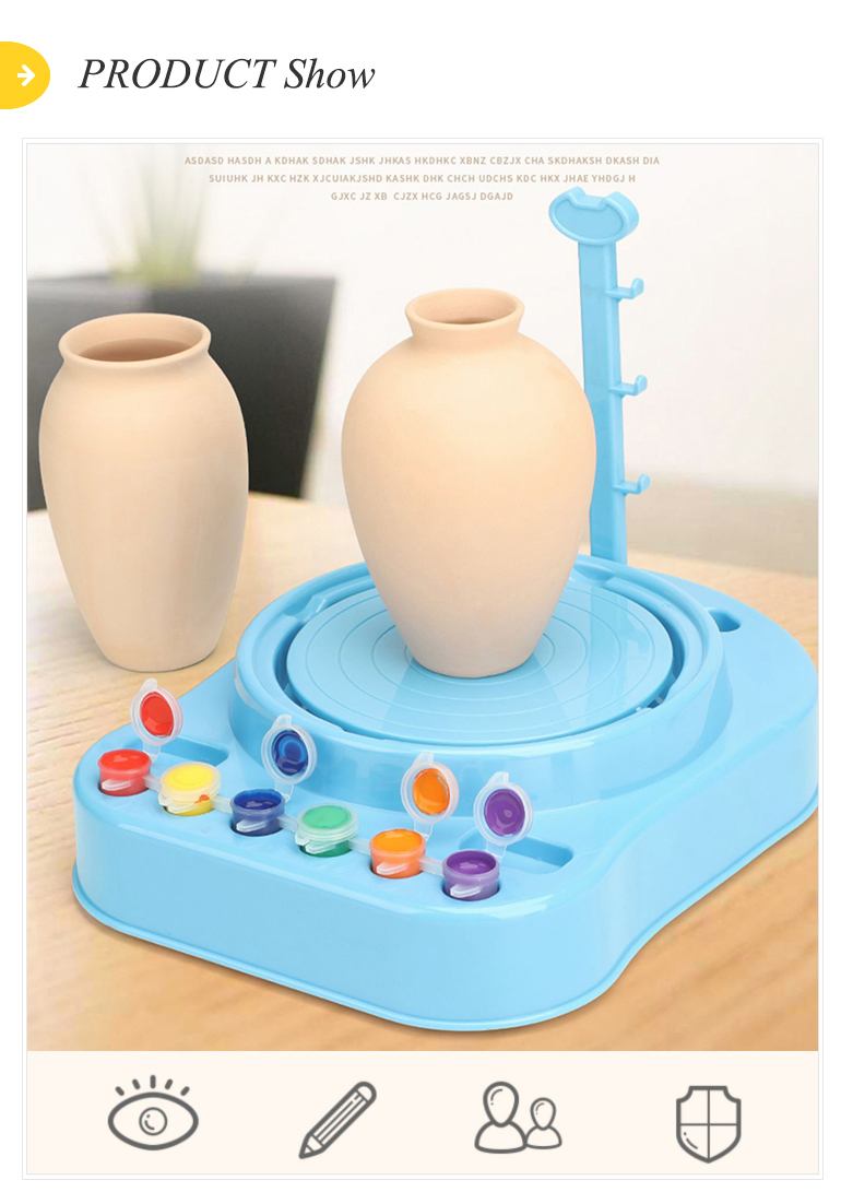 Drawing game electric diy workshop kids pottery wheel toy