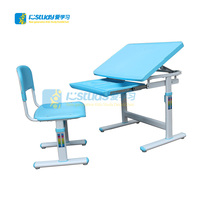 Hot selling PP adjustable children desk assemble kids study table