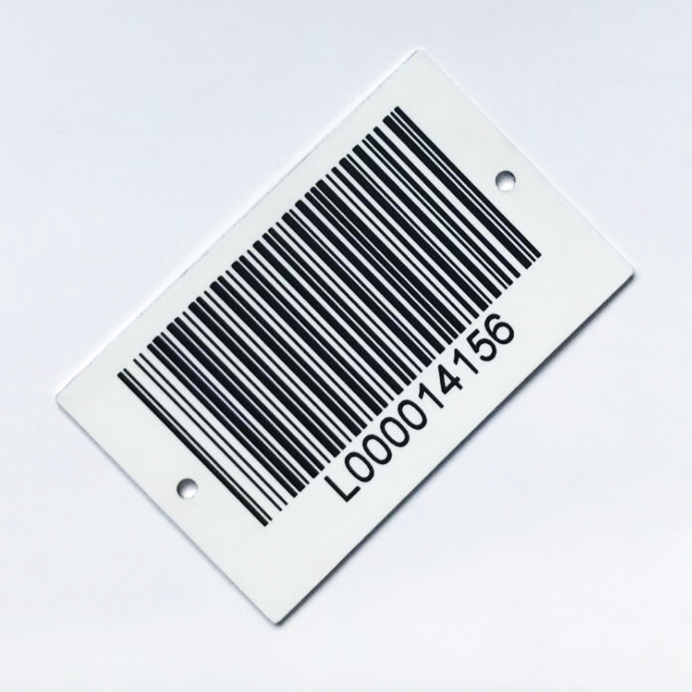 custom 3d <strong>printing</strong> sticker qr/bar/upc codes logo metal label