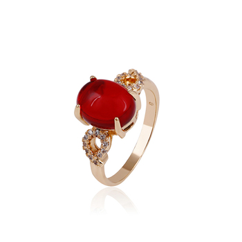 14583 xuping jewelry hot selling fashion rings lady ruby gold rings