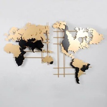 Creative Stereoscopic <strong>Wall</strong> Mounted Office Company Store Home Decorative Art World Map Metal <strong>Wall</strong> <strong>Decor</strong>