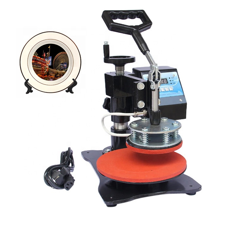 Yiwu Factory Plate Sublimation Transfer Heat Press Machine Digital Swing Away Heat Press Machine for 8 Inch Plate 11cm Diameter