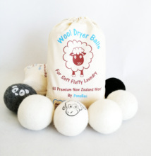 <strong>1</strong> <strong>x</strong> 6cm Wool Dryer Balls Fabric Softer Laundry Drying Home Washing Balls
