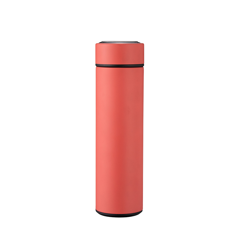 Smart Water Bottle With Tea Infuser Stainless Steel Double Walled Intelligent Vacuum Flask (Red)