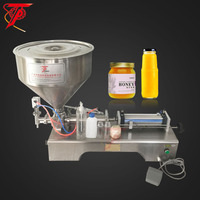 China manufacturer pneumatic piston small bottle honey filling machine price