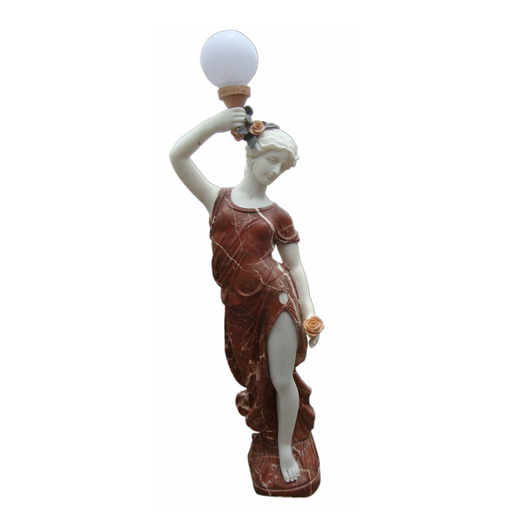 GGQ058 Stone Antique Statue Led Light Sculptures