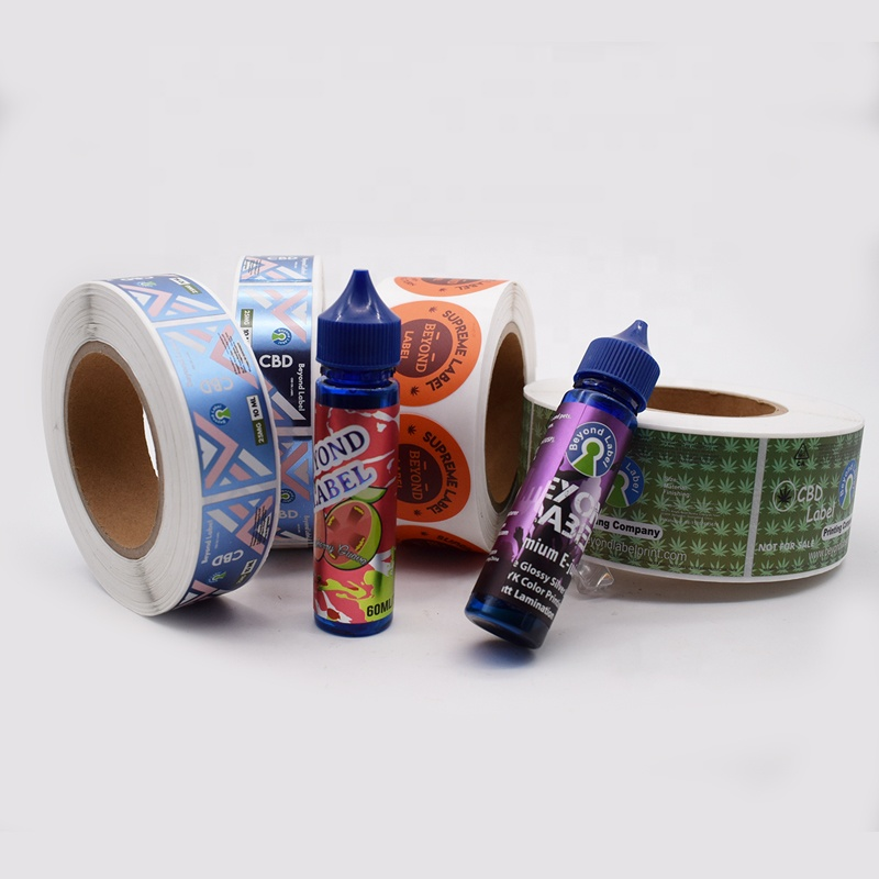 Preroll Logo Sticker Printing Waterproof Custom Packaging labels