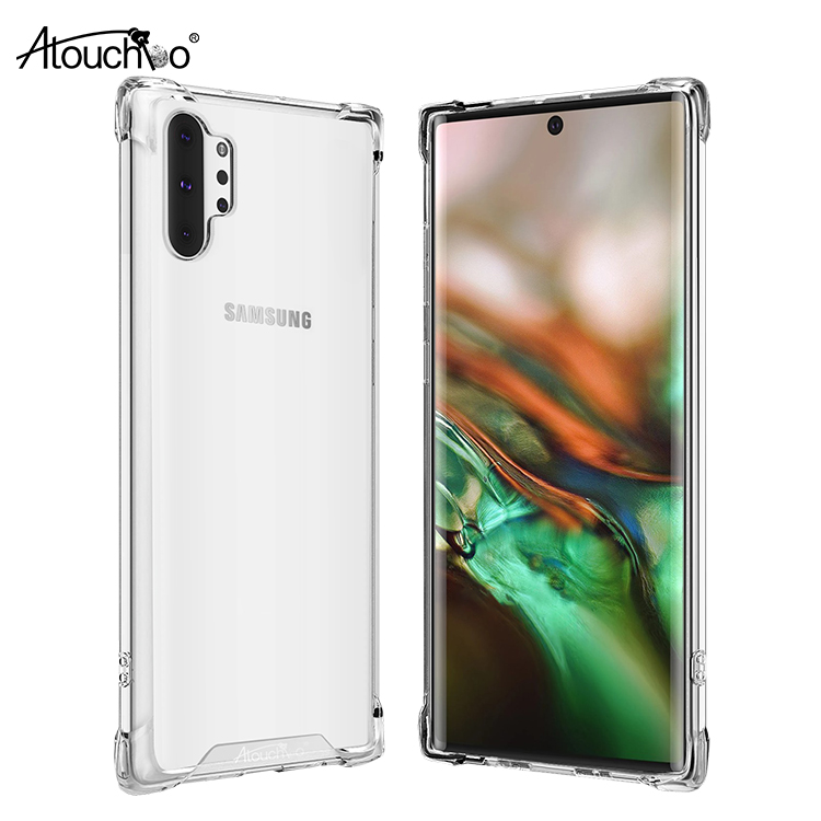 Phone Case For Samsung Galaxy Note 10 Plus Back Cover TPU PC Clear Case For Samsung Galaxy Note 10 Case