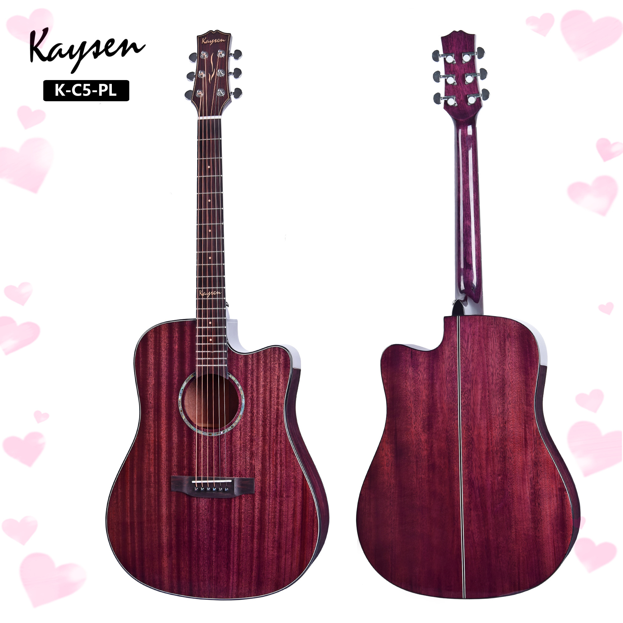 High end 41inch soild mahogany top cutaway acoustic guitar for sale made in china