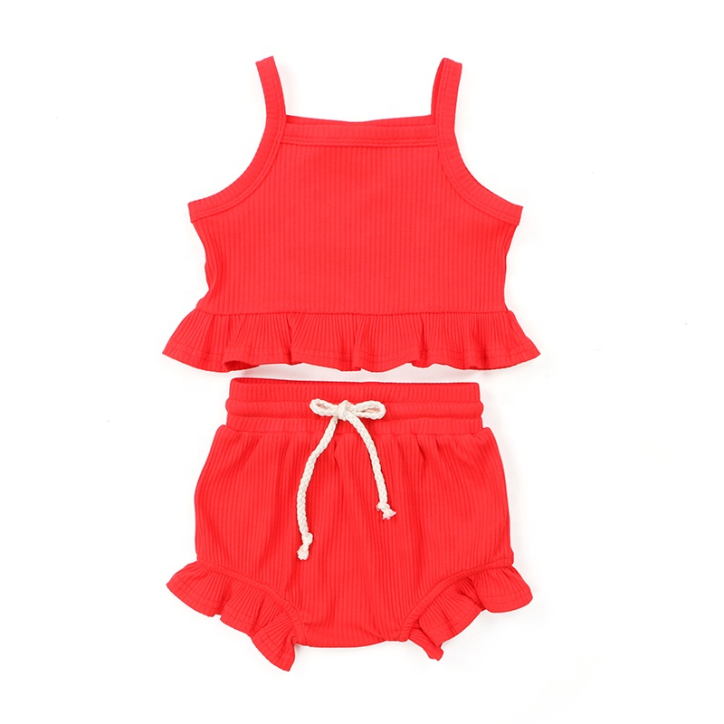 New products clothing sleeveless sets baby fabric infant clothes kids outfits clothing