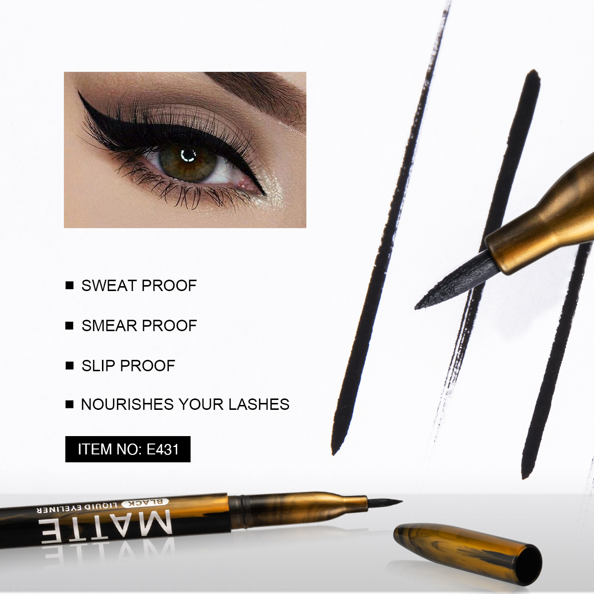 Eye Use Cosmetic Makeup E431 Matte Liquid Eyeliner