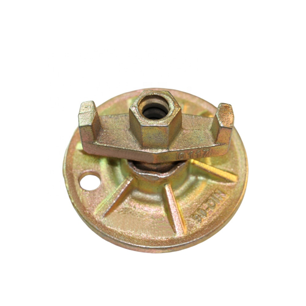 Building hospital sand casting ductile iron formwork fastener wing nut with plate