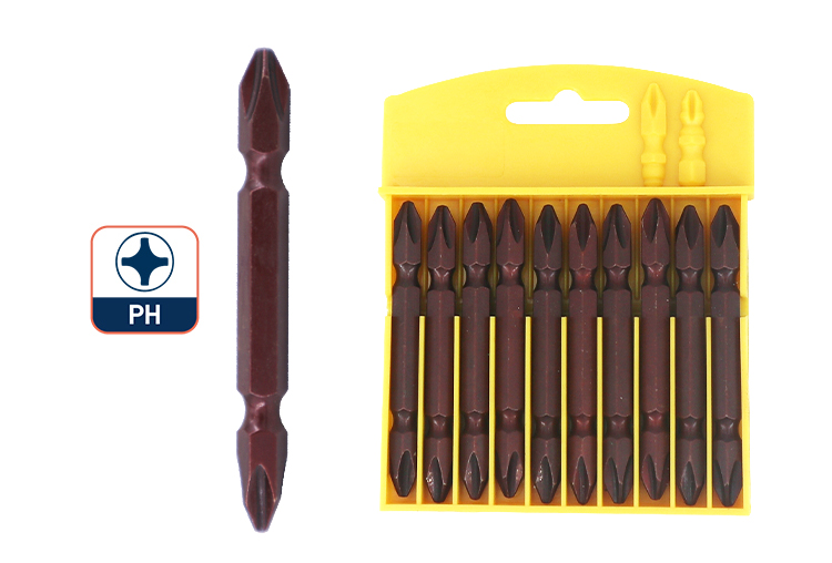 Double End 1/4 Inch Hex Shank Screwdriver Bit for PH Head