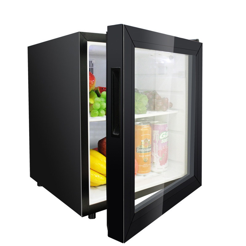 Black 50L Glass Door Compressor Wholesale Mini Home <strong>Appliances</strong> Small Freezer Refrigerator