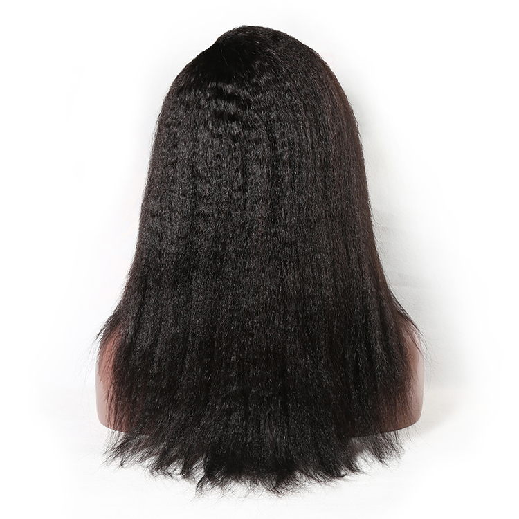 Low density wig cheap kinky straight wig,color wigs afro kinky straight 613# full lace wig wholesale,80% density remy hair wig