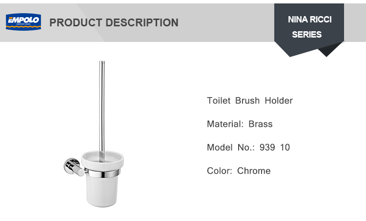 Mounted Brushed Bathroom Brush Holder Toilet Brush Holder With Stand