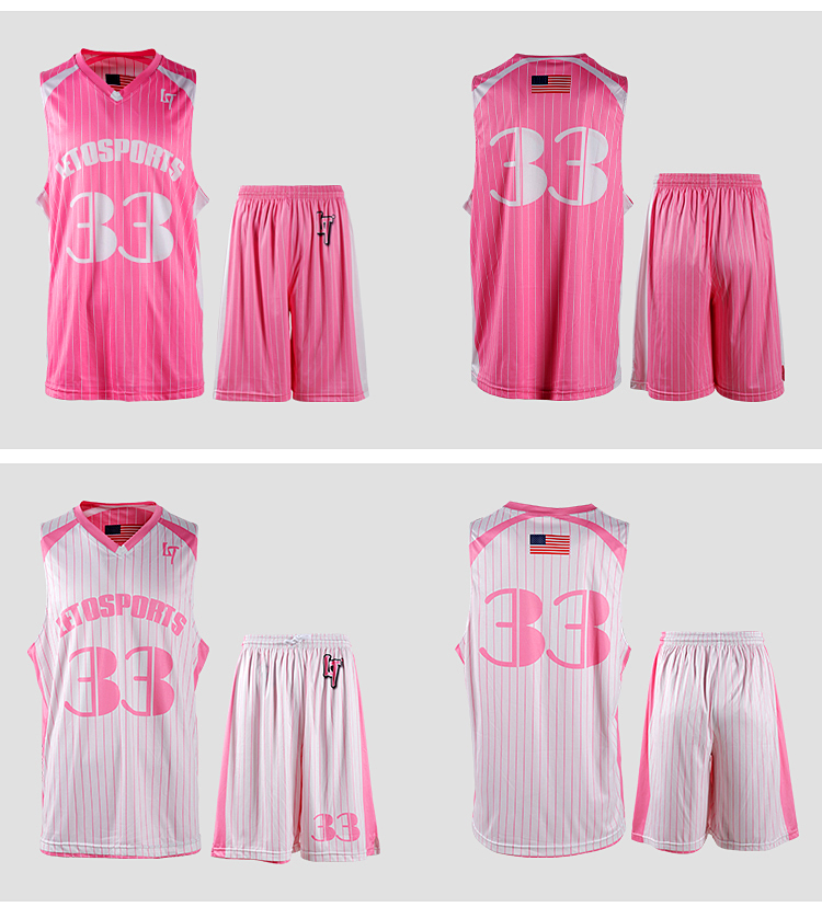 Sports manufacturer sublimation youth basketball uniforms reversible