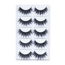 The Best Quality 5 Pairs Private Label False Eye Lashes 3D Silk Synthetic False Eyelashes 5Pair