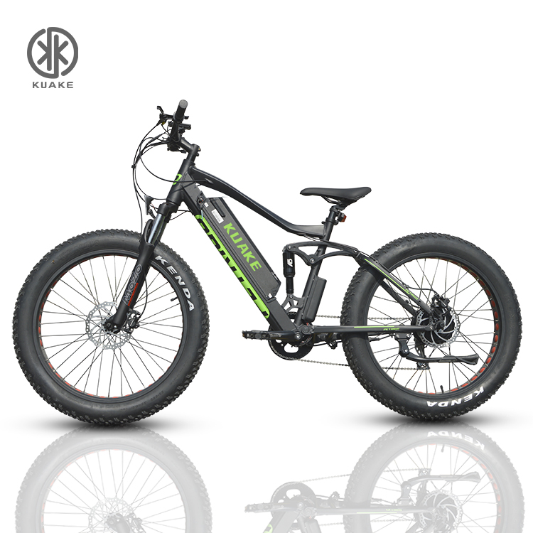 KUAKE 26 inch powerful 48v <strong>1000</strong> <strong>w</strong> fat tire off road ebike electric mountain bike with dual motor