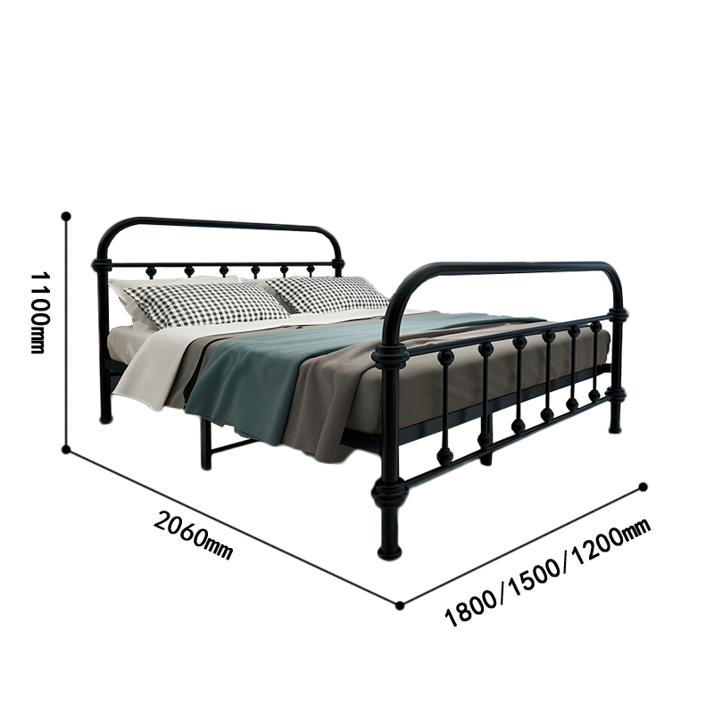 White modern stainless steel single bed child sleeping metal bed durable foldable kids beds
